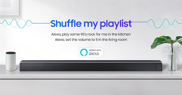 Samung Soundbar with Alexa assistance for music