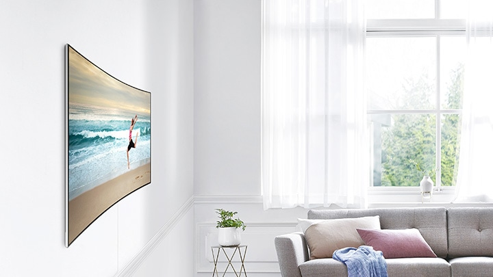 Samsung QLED Q8C 4K Curved Smart TV No Gap Wall-Mount