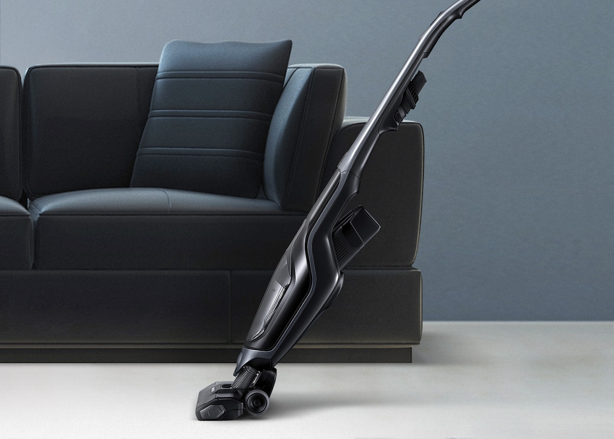 Samsung Extreme suction power POWERstick vacuum cleaner – an image of 2-in-1 handheld for flexible cleaning