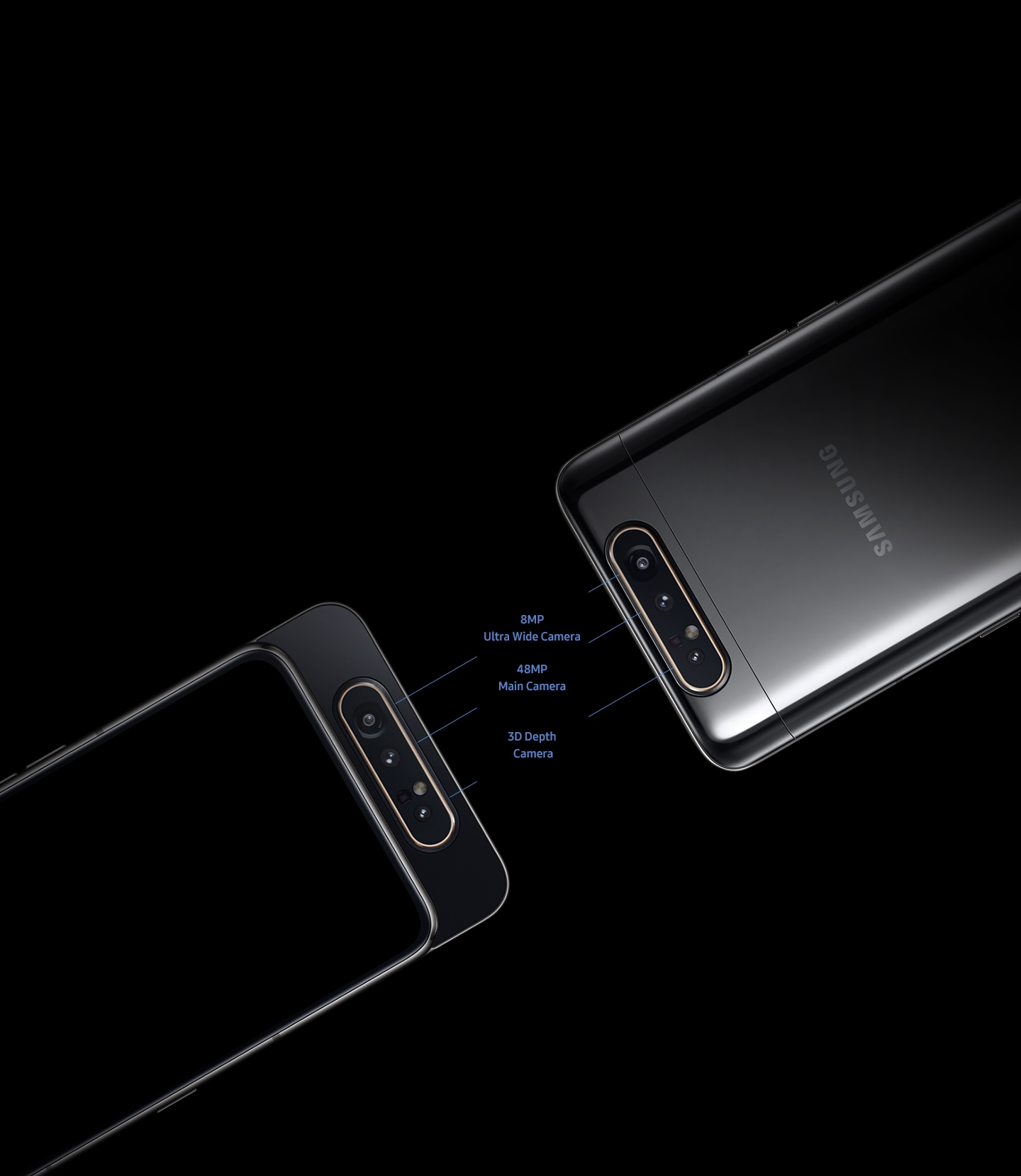 Samsung Galaxy A80 with triple rear camera