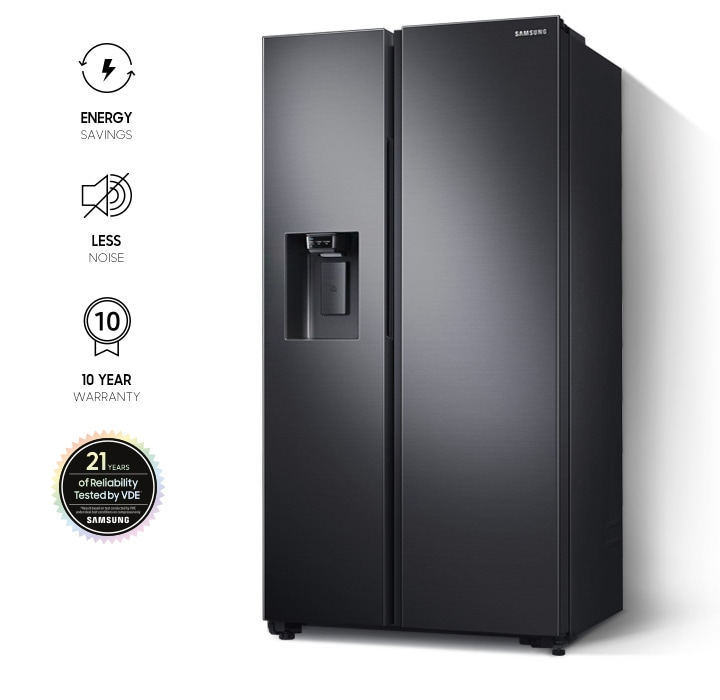 Samsung Side by Side Refrigerator (617L, RS64R5304B4) with Digital Inverter