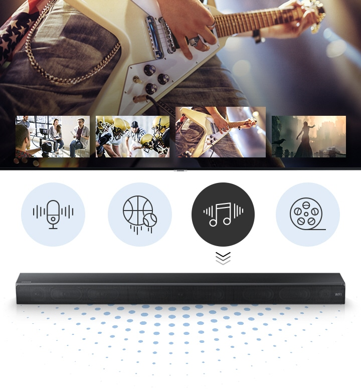 Samsung Soundbar Sound+ Smart sound mode