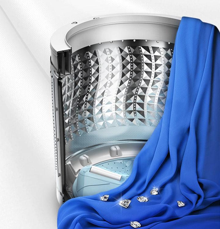 Samsung top load washing machine with Diamond Drum