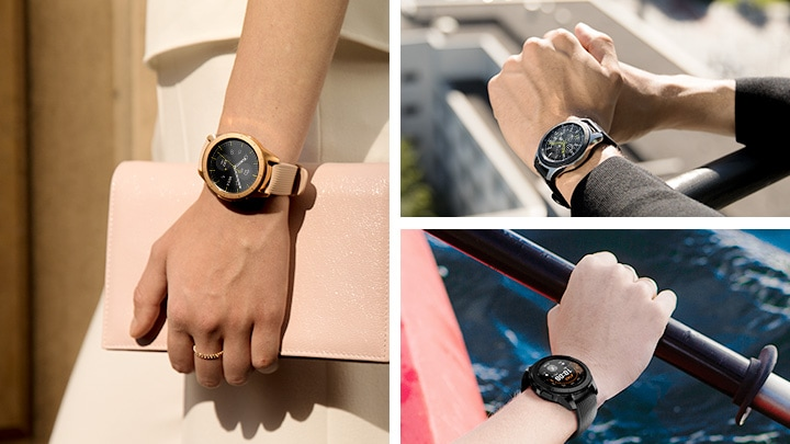 Samsung Galaxy Smart Watch Gear S4 – True Colors to Match Your Lifestyle – Rose Gold, Silver and Midnight Black