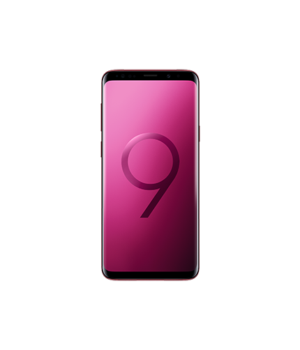 Galaxy S9+ Burgundy Red Front