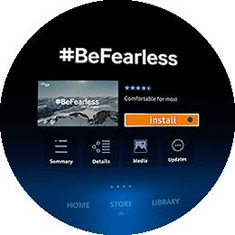 #BeFearless App Download Step 3