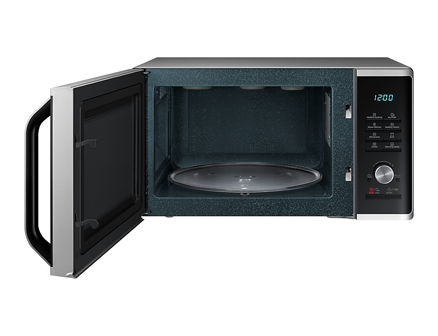 Samsung Healthy Steam Grill Microwave front-open silver