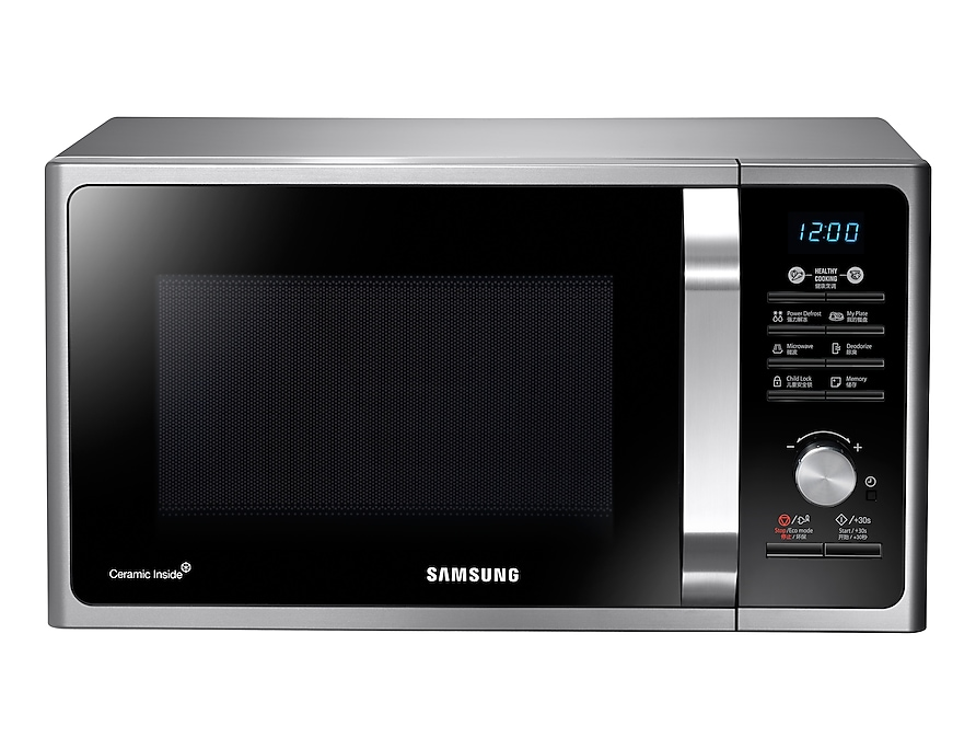 Samsung Solo Microwave MS23F302TAK Front Silver