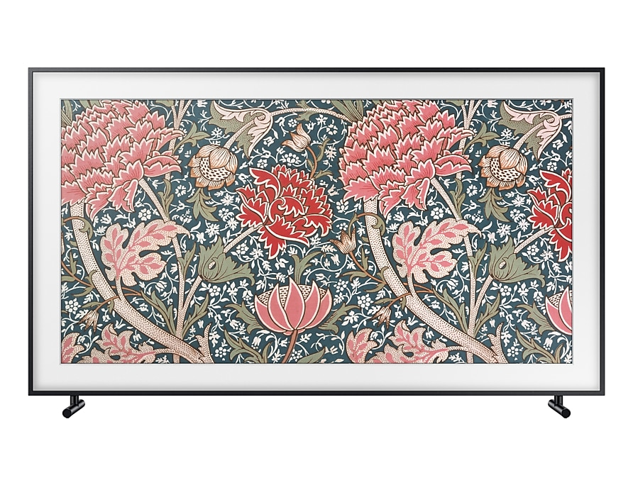 "65"" Samsung The Frame Lifestyle TV front black"