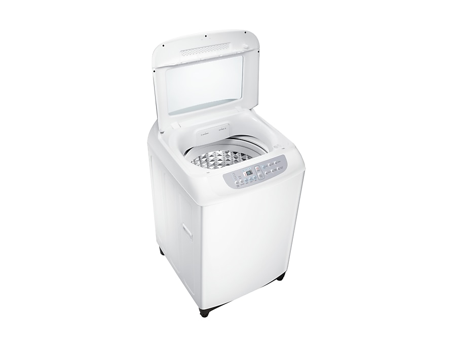 Washing Machine – Double Storm Pulsator 8.5Kg Top Load, 3 Ticks  WA85F5S3QRW/SP dynamic-door-open white
