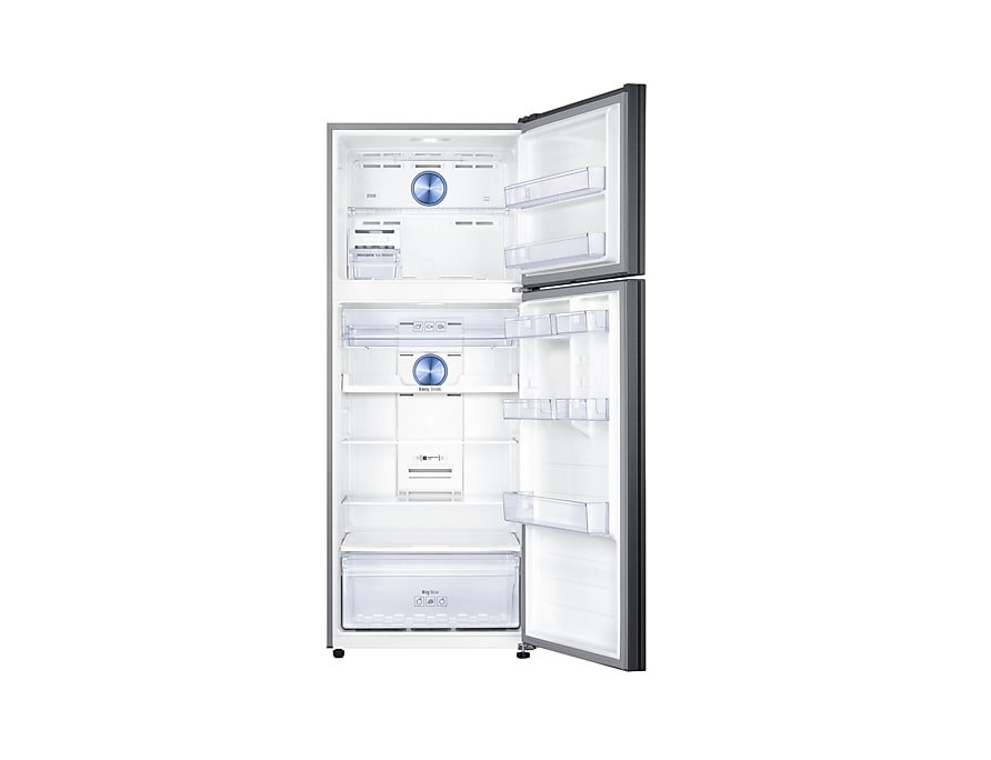 Refrigerator – Twin Cooling Plus™, 460L, Top Freezer, 3 Ticks  front-open jet black