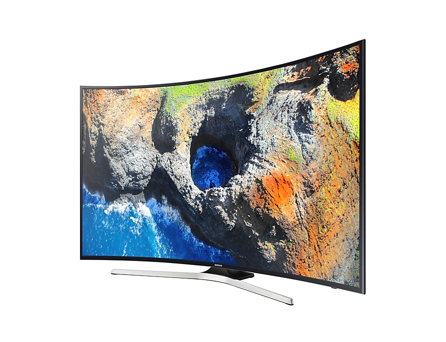 Samsung UHD Curved Smart TV MU6300 Series 6 r-perspective black