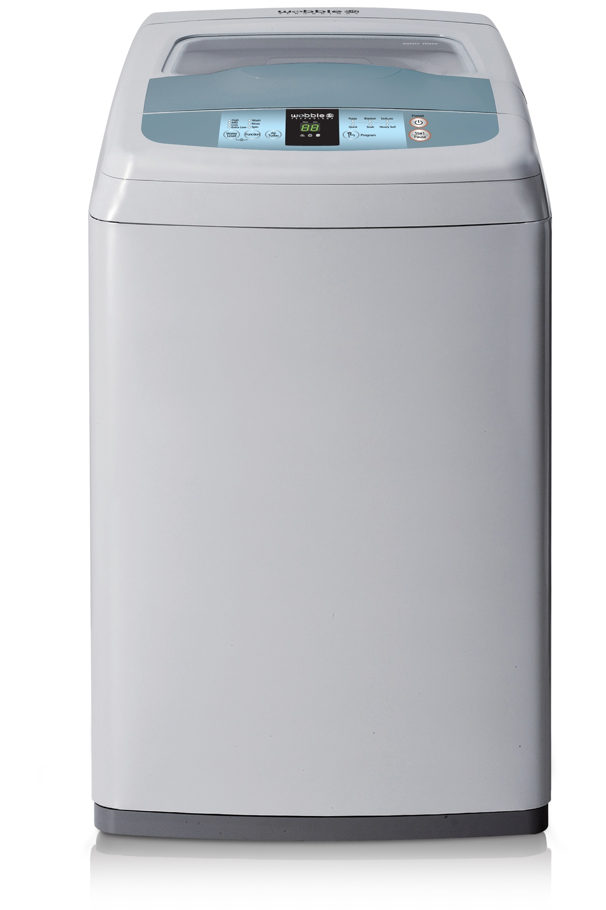 Pacific Top Loader with Wobble Technology, 7.5 kg, Gray