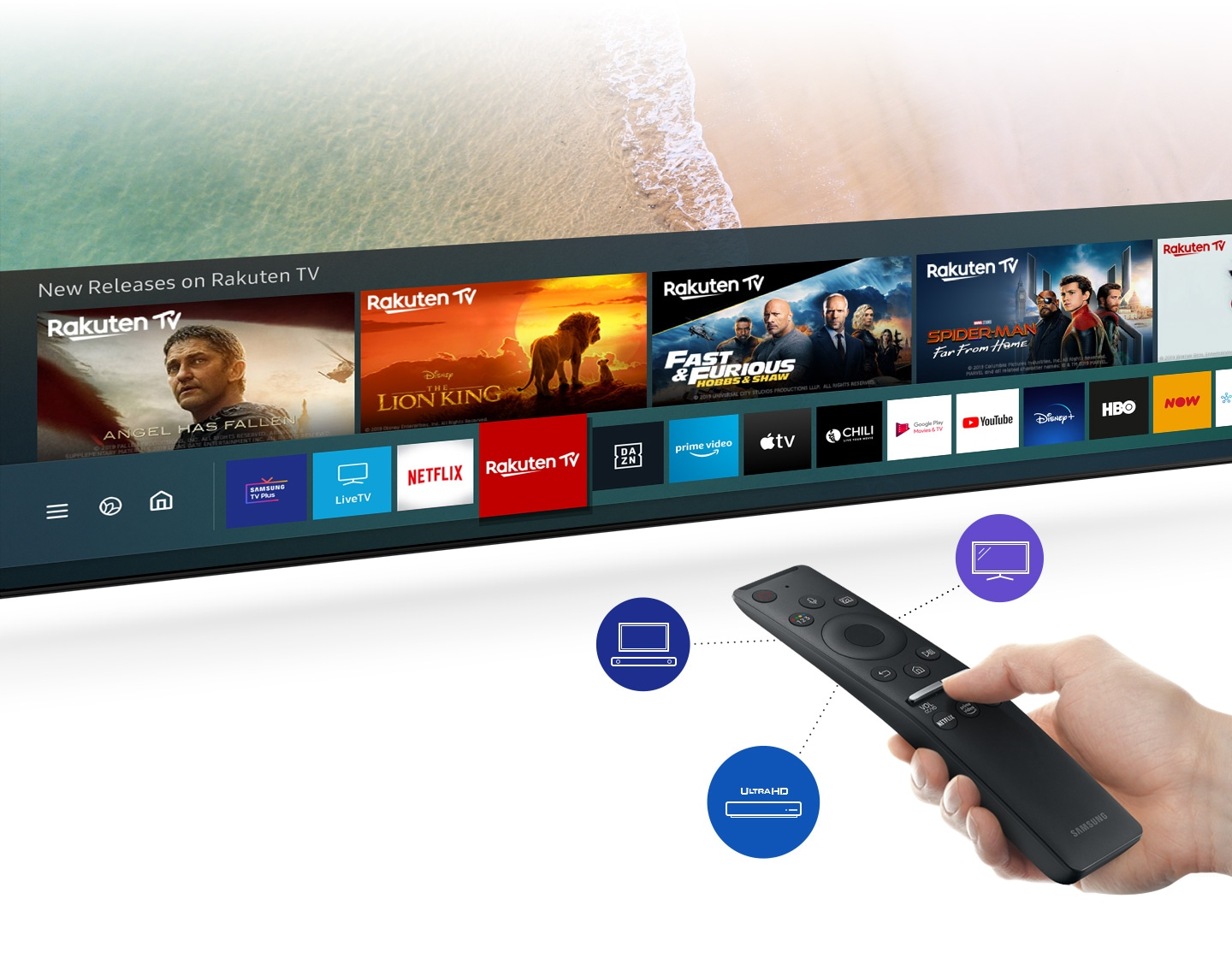 Access a variety of content with a single remote control