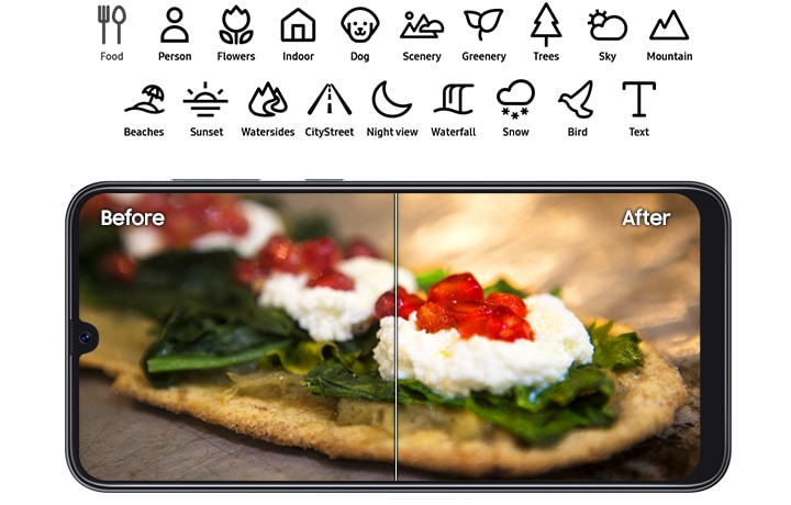 19 modes for optimized photos