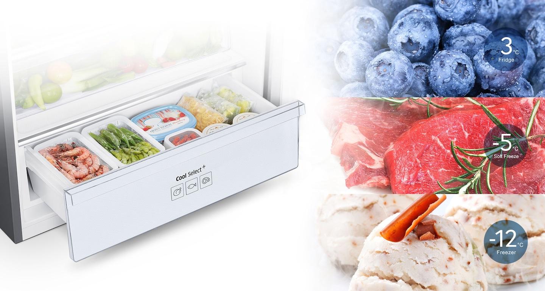 ทำความเย็นหรือแช่แข็งอาหารด้วยการแตะเพียงปุ่มเดียว