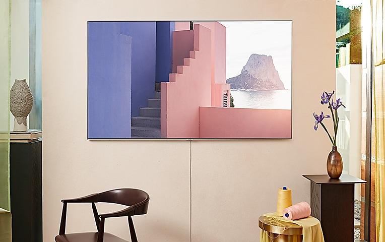 零間隙壁掛架的模擬影像,僅供說明使用