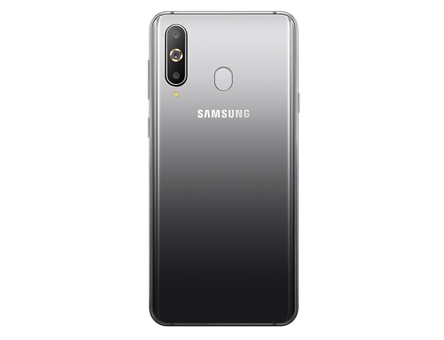 Galaxy A8s 漸層黑背面
