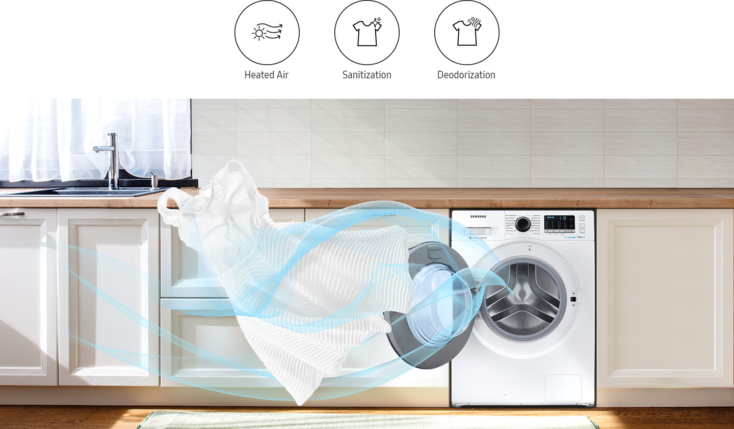 Refresh & sanitize your clothes with air