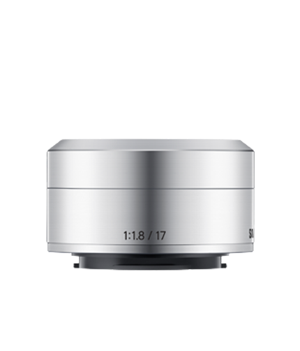 17mm f1.8 Prime Lens for NX mini Front Silver
