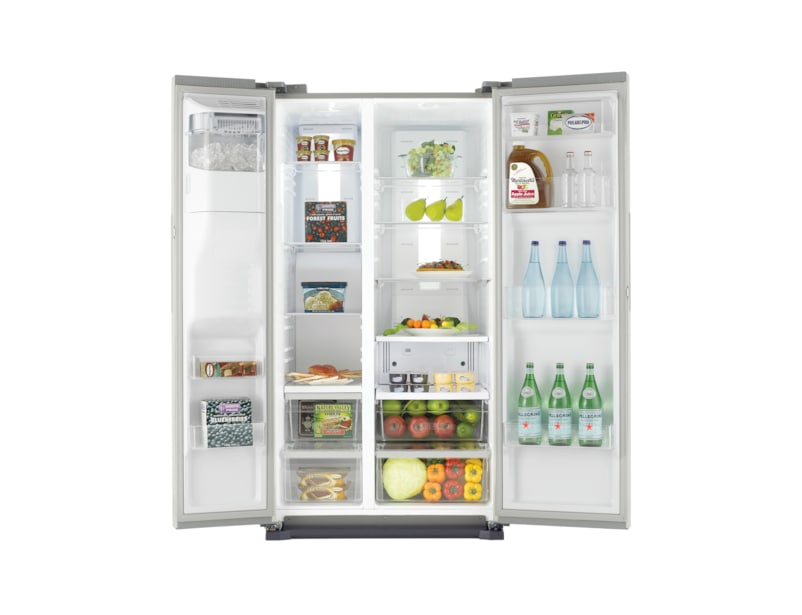 H-Series American Style Fridge Freezer Front Open Silver