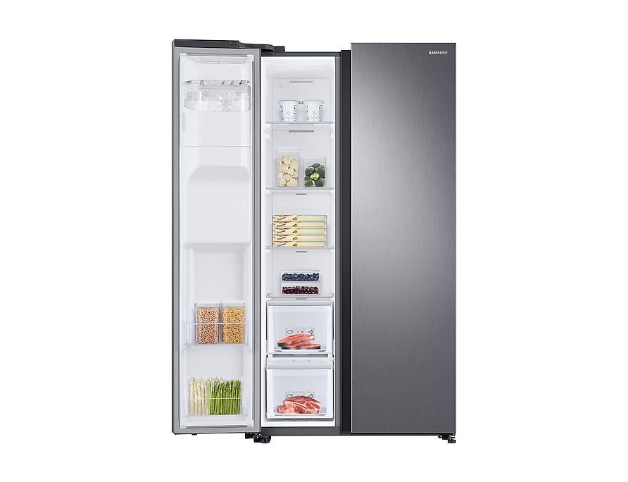 RS68N8230S9/EU Front-Left-Door-Open-With-Food_Silver