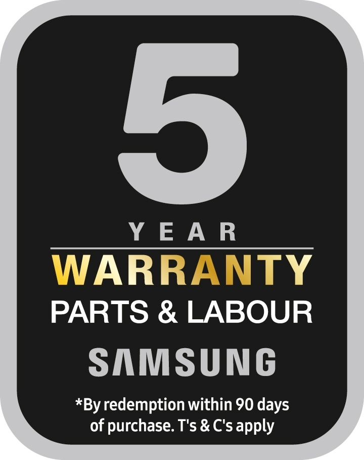 Samsung - 5 Year Warranty