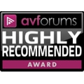 AV Forums Highly Recommended award