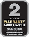 2 year warranty on parts and labour*