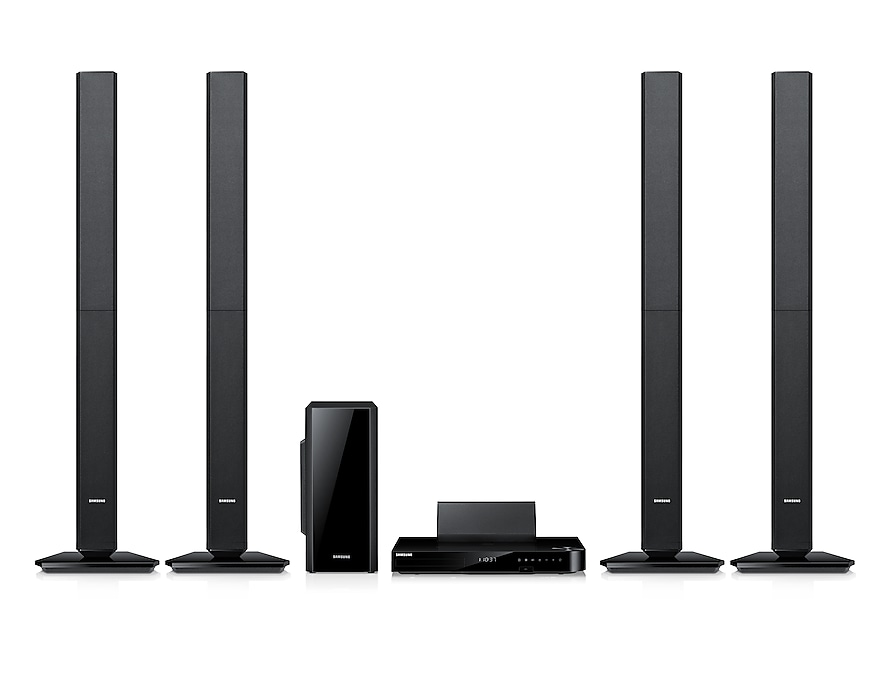 5 Speaker Smart 3D Blu-ray & DVD Home Theatre System Front Black