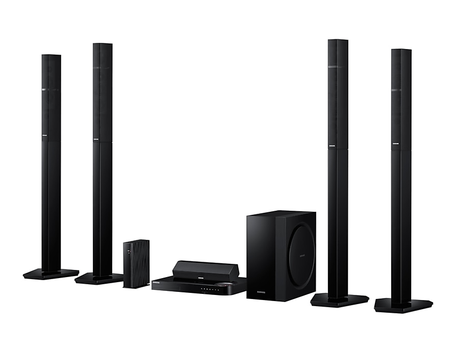 5 Speaker Smart 3D Blu-ray & DVD Home Theatre System R Perspective black