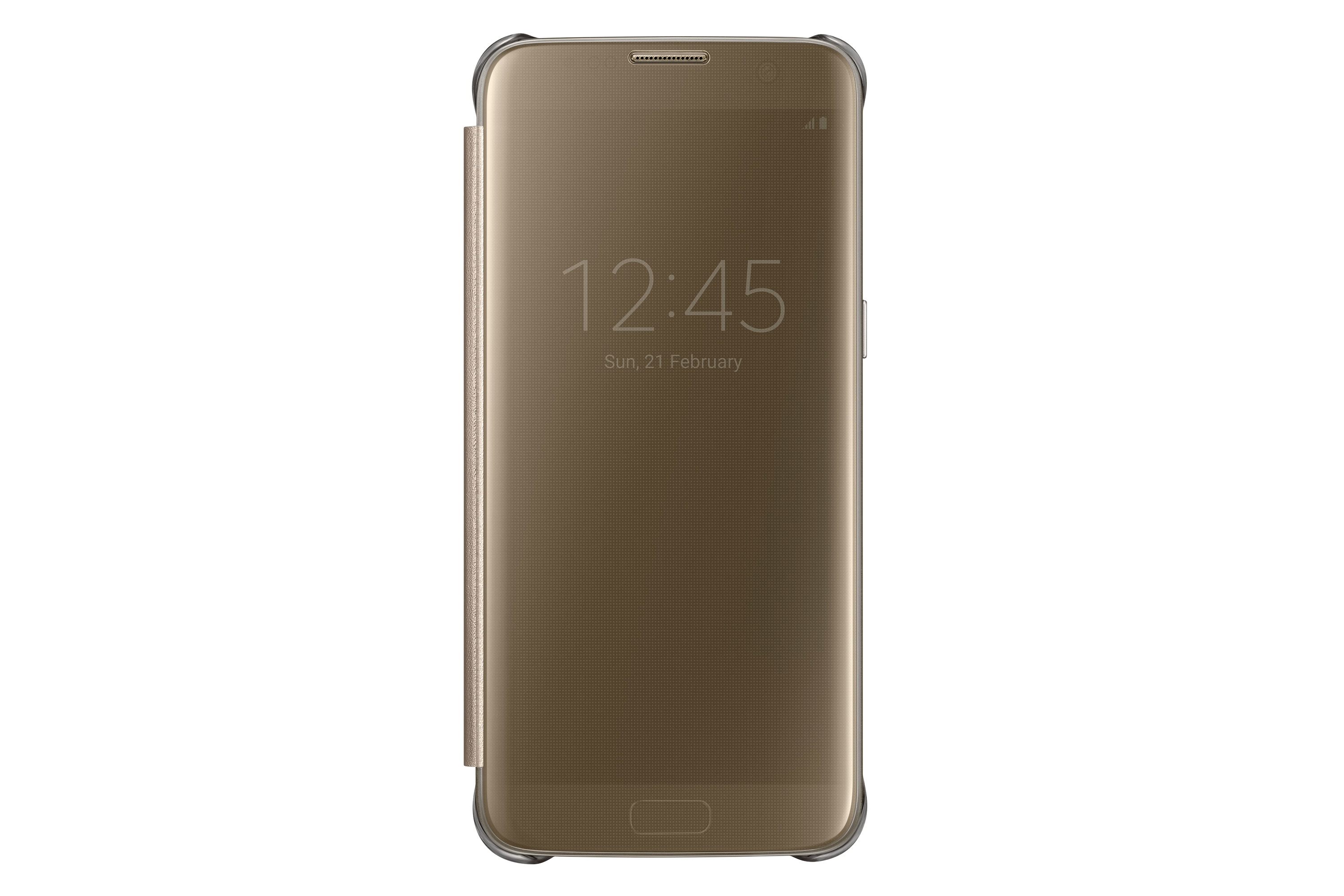 Galaxy S7 edge Clear View Cover Case Gold   Samsung UK be6d81211392
