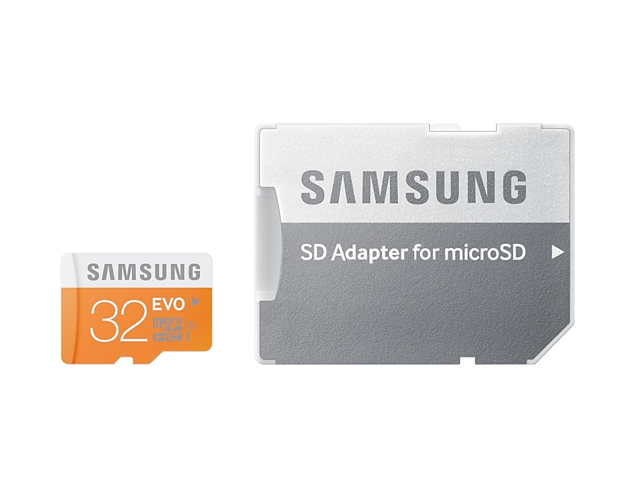 Micro SDHC EVO Memory Card with SD Adaptor (32GB) Front