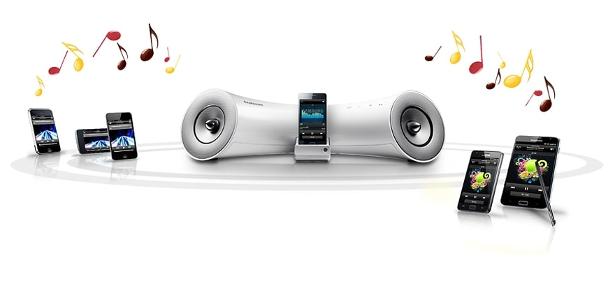 The world's first dual docking audio system
