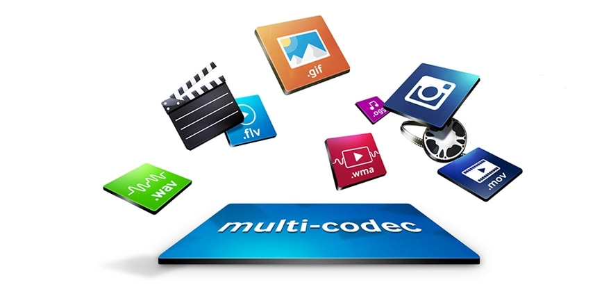 Access your content with a much wider range of codecs