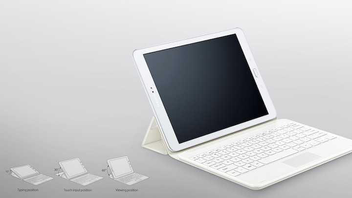best service 38675 99992 Keyboard Book Cover for Tab S2 9.7 in White | Samsung UK