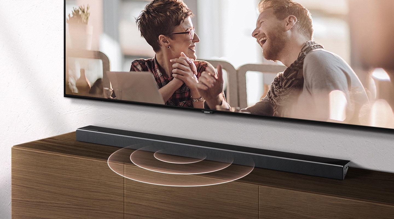 Samsung soundbars' center channel provides clear dialogue