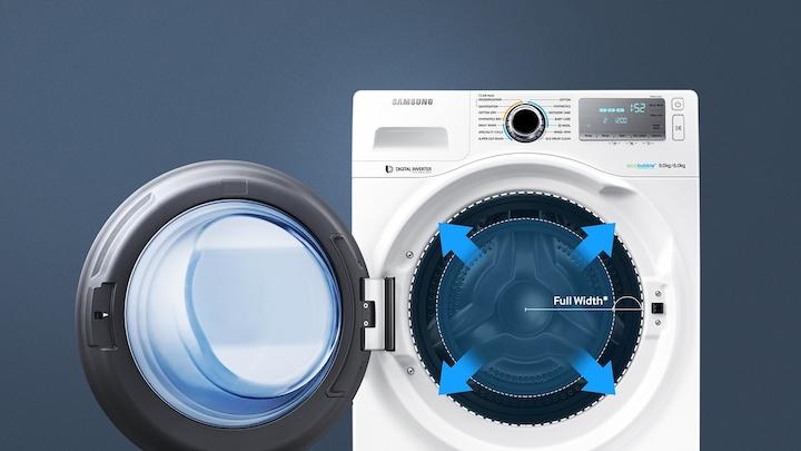 9kg Ecobubble 1400rpm 60cm W Washer Dryer White