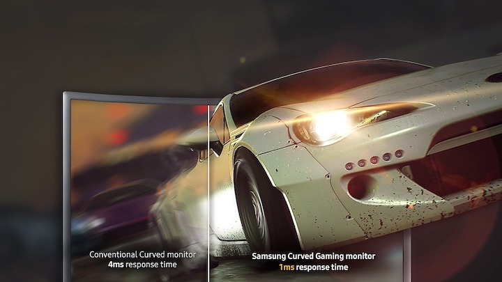 The only curved monitor with super-fast 1ms response time