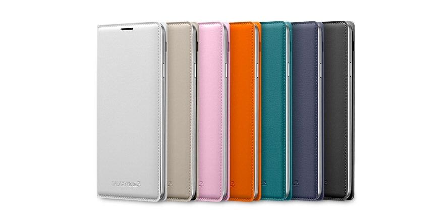 newest c97a1 aca39 Galaxy Note 3 Wallet Flip Cover, Case (Mocha Grey) - Samsung UK