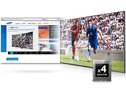 Powerful Quad Core processor for faster performance