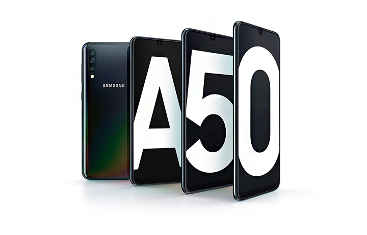 Samsung Galaxy A50 Black 128GB with AR Emoji | Samsung UK
