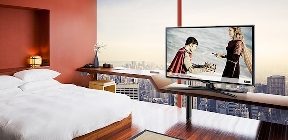 Impress guests with ultra-slim and stylish displays that offer an enhanced viewing experience