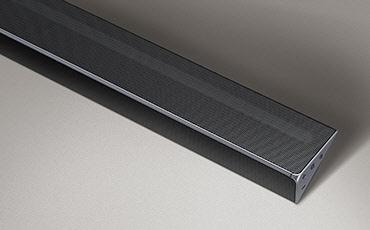 The Samsung Harman Kardon HW-Q70R Cinematic soundbar with subwoofer