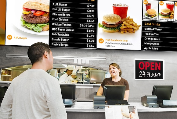 Attract audiences 24 / 7 with powerful professional digital signage