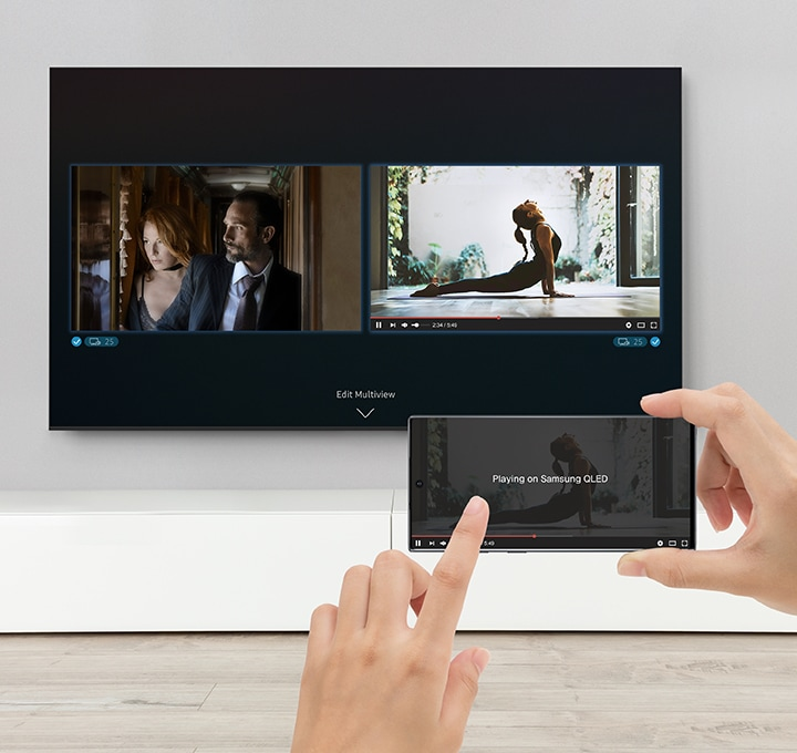 TV and mobile content, split on the big screen