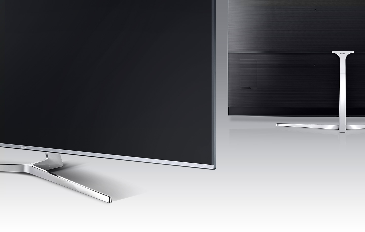 samsung smart tv back. a back angle image of samsung suhd tv\u0027s t-stand. smart tv