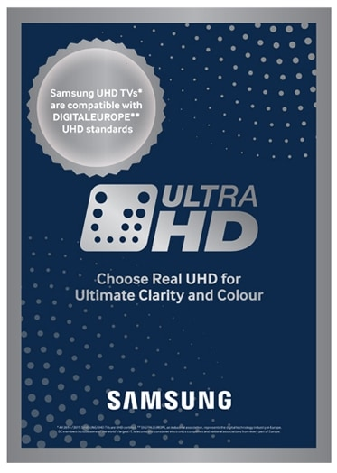 Experience genuine 4K UHD resolution