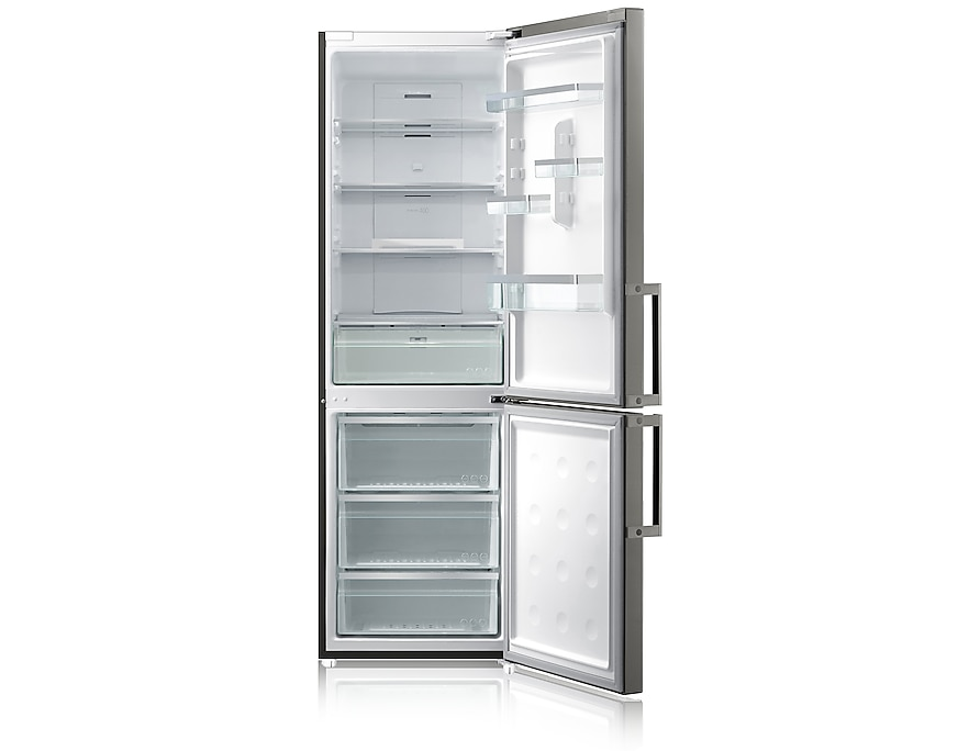 G-Series Fridge Freezer Front Open Grey