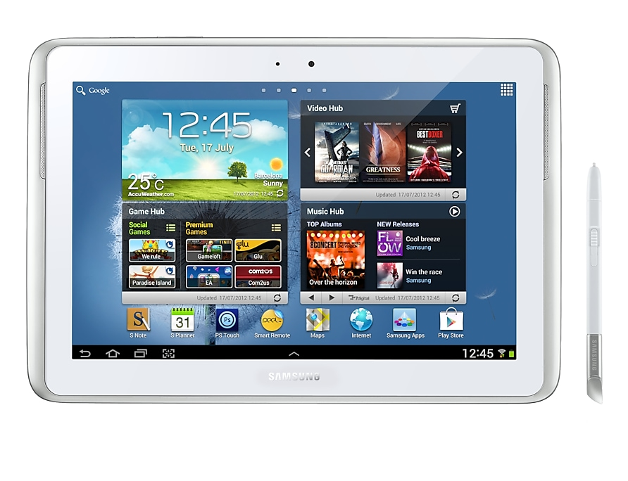 Samsung Galaxy Note 10 1 3g White Samsung Uk